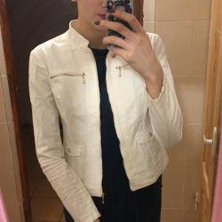 Λευκό γυναικείο μπουφάν σακάκι μπουφάν σακάκι