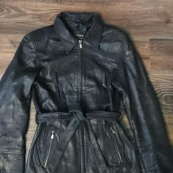 Women's leather jacket S-M.