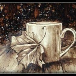 Picture coffee (written coffee) AUTUMN COFFEE
