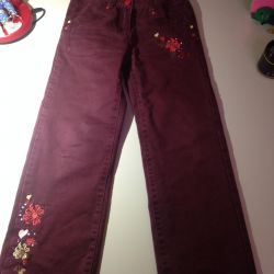 Warm pants for girls Playtoday, height 122