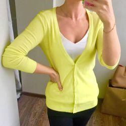 Φωτεινή κίτρινη-ασβέστη ζακέτα 21 Για πάντα