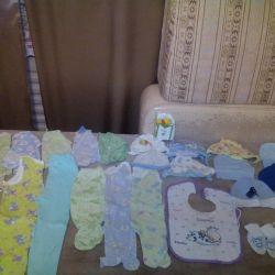 Вещи пакетом на новорожденного