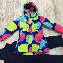 New demi-season suit for girl 122cm