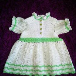 Handmade Нове плаття дівчинці. Шапочка безкоштовно
