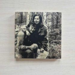 Vintage photo on a tree