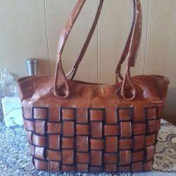 Кожаная ,новая женская сумка