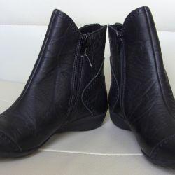 36 Fall Black Half Boots El Tempo