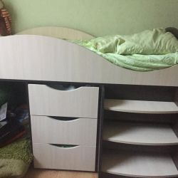 Дитяче ліжко горище з матрацом