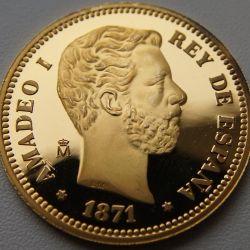 25 pesetas 1871 Spania Amadeus I