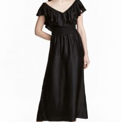 HM Long dress with frill