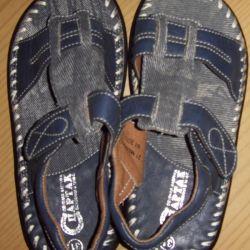 New denim sandals for a boy 31.5 rr