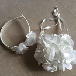 handbag with hoop, bezel