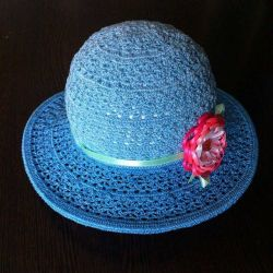 Hat summer for the girl, a panama hat