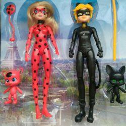 Set Lady Bug și Super Cat - 28 cm