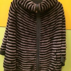 Knitted mink poncho. Sofia Furs Factory