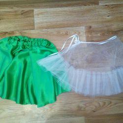 Skirt, petticoats.