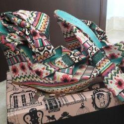 Killah Platform Shoes, No 39, Fabric, Very Comfortable, Worn 3