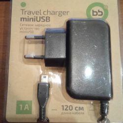 Φορτιστής ταξιδίου BB MiniUSB 1A