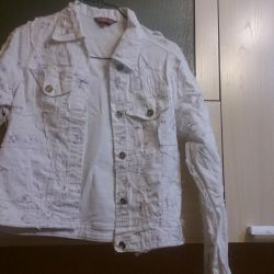 Джинсовка белая шитье Fed Jeans