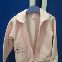 Sweatshirt with zipper for girl