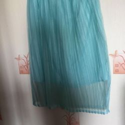 Turquoise skirt with lining