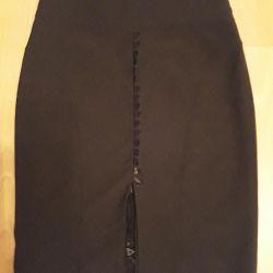 Etek güzel 46 beden krep siyah