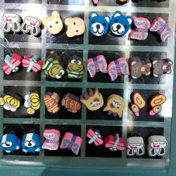 Earrings for little fashionistas. 100 rubles for each.