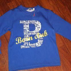 Erkek çocuk Sweatshirt., Doğan, mavi, yeni, yükseklik 120