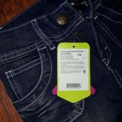 Kızlar için kot pantolon, Acoola, yeni, mavi, boy 134 cm