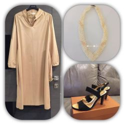 Dress 46 р and a necklace