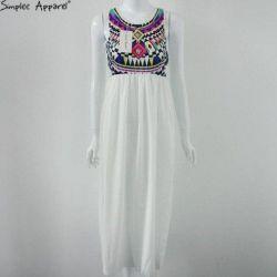 Midi dress, white bottom, new