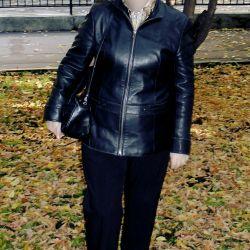 Ladies' genuine leather jacket size 46-48