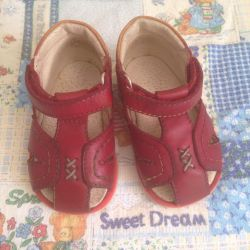 Sandals for girl, leather