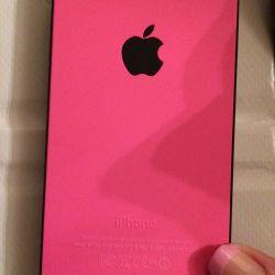 Чехол айфон 5s iPhone 5s матовый розовый черный в