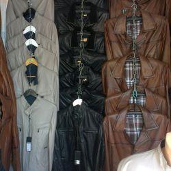 Full sale of men's leather jackets, jackets