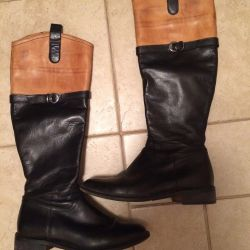 Leather boots, 37r