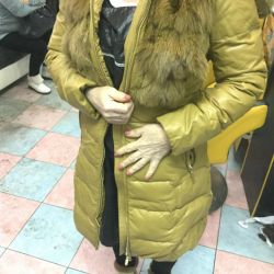 Jacket size 44 with a natural collar turning