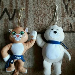 Soft toy sochi for two toys.