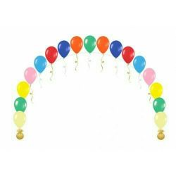 Arch of balls