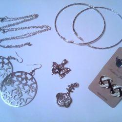 New jewelry (earrings, pendants)