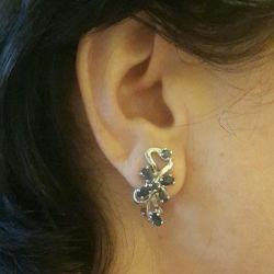 Σκουλαρίκια και δαχτυλίδι από ασήμι