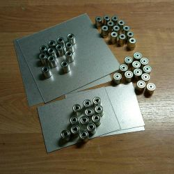 Mica and magnetron caps for microwave