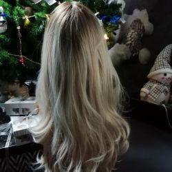 O perucă. Colorați Ambre, rezistenți la căldură. fibra !!