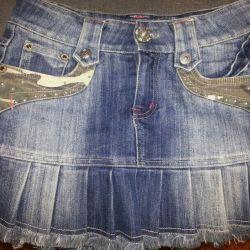 джинсовпя юбка
