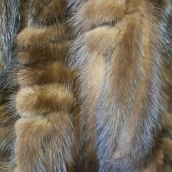 Women's mink long coat from pieces of the USSR
