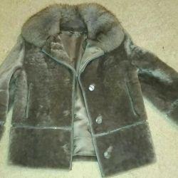 Short fur coat muton