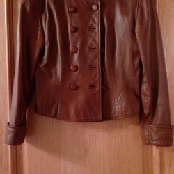 Jacket-jacket made of genuine leather