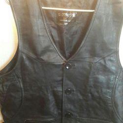 Men's vest new genuine leather