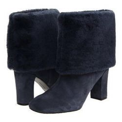 Genuine leather boots with fur