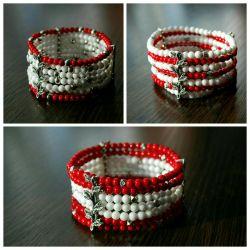 Handmade bracelets made of natural stones